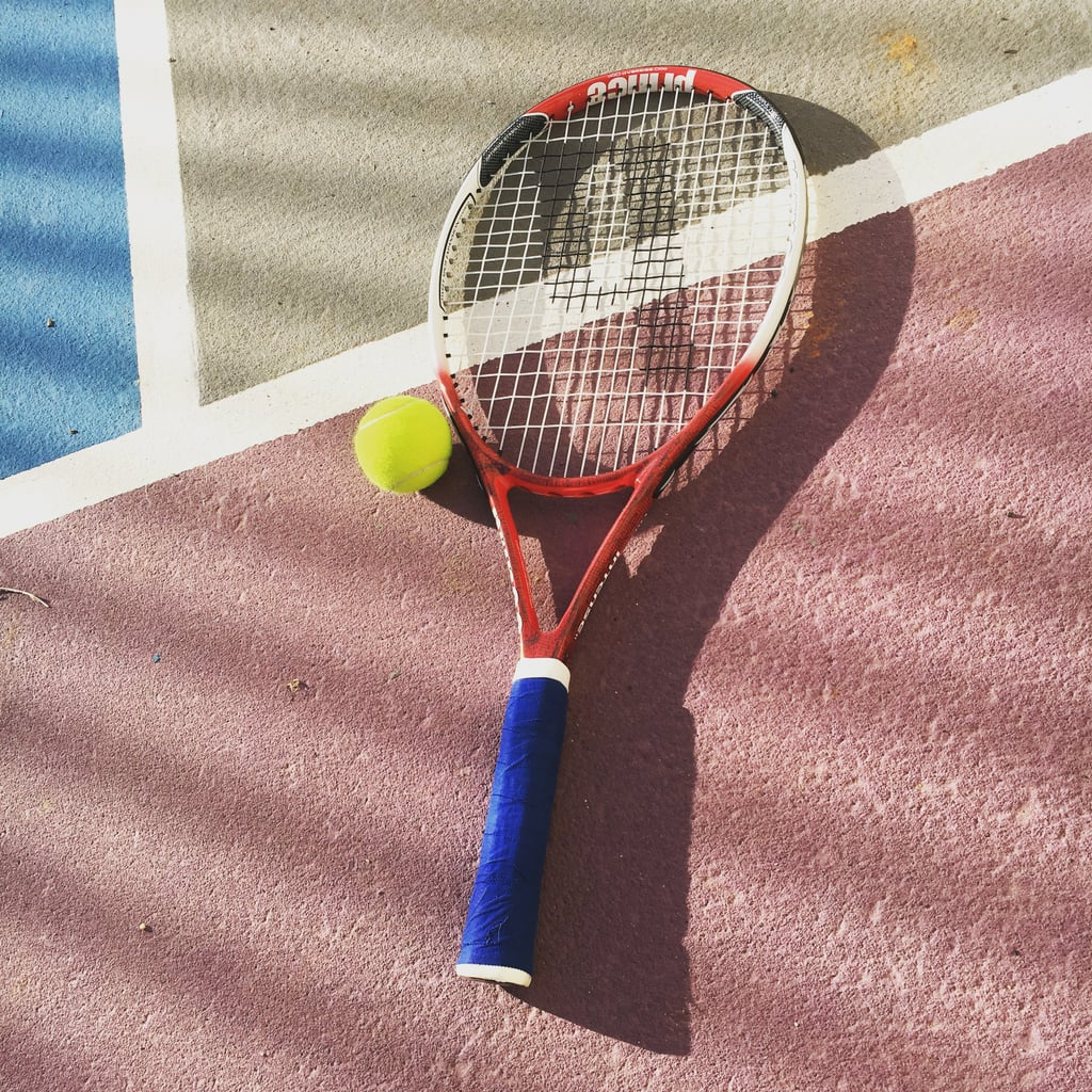 Play tennis at a free court in the park.