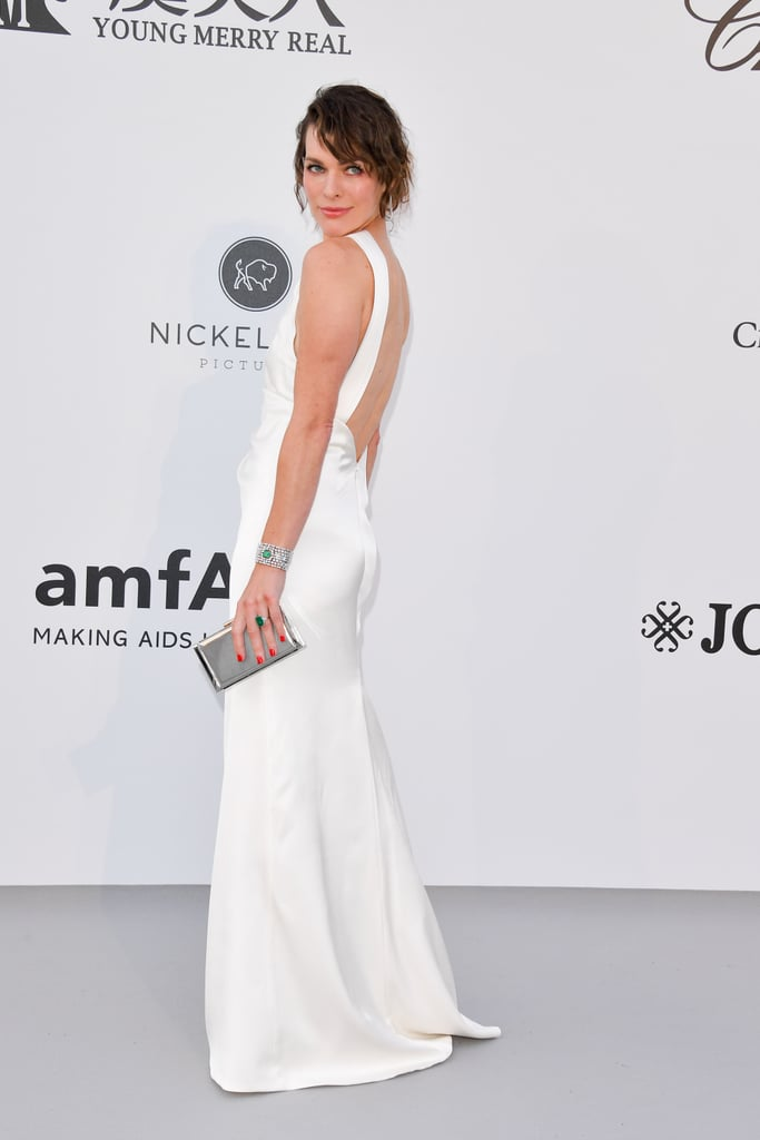 Milla Jovovich at the amfAR Cannes Gala