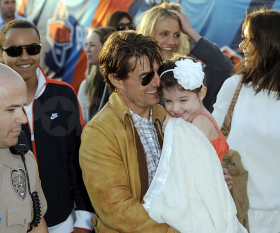 Slide Photo of Suri Cruise at the Super Bowl With Cameron Diaz, Tom Cruise, and Katie Holmes
