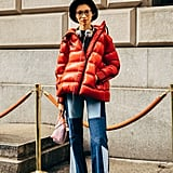 Coordinate the Color of Your Puffer With the Platform of Your Sneakers
