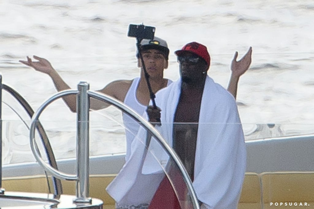 "On Friday, Diddy captured his St. Barts vacation with the help of a selfie stick. The producer-turned-rapper was seen using the picture-taking toy to film himself while he relaxed on a yacht with his family. At one point, one of his fellow boat-partiers came up behind Diddy to play around in the background while he continued to film himself. Diddy shared the fruits of his selfie-stick labors on Instagram, posting a shot of himself posing in front of a luxurious yacht while out to sea. Diddy also got into the festive spirit earlier this week when he dressed up as ""black Santa"" to hand out gifts to his adorable children."