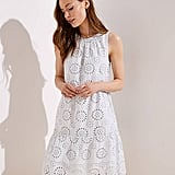 Loft Tiered Eyelet Dress