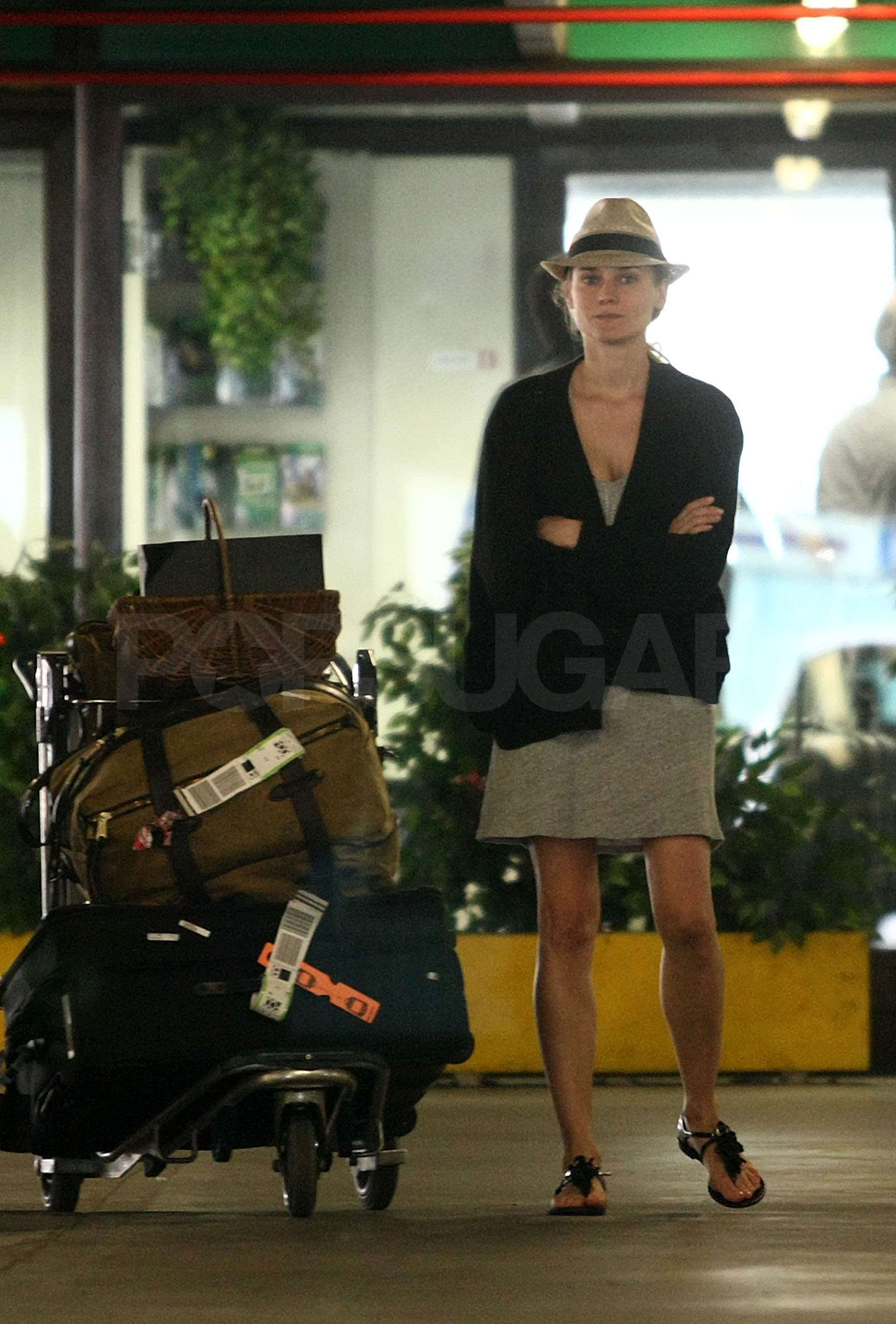Pictures of Joshua Jackson and Diane Kruger at Fiumicino ...