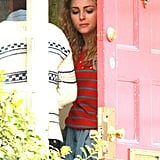 AnnaSophia Robb filming The Carrie Diaries.