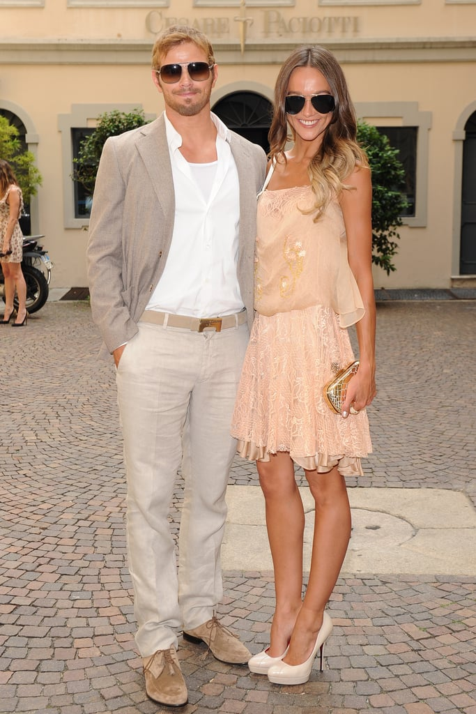 Kellan Lutz and Sharni Vinson at the Cesare Paciotti Men's Spring 2013 show in Milan.