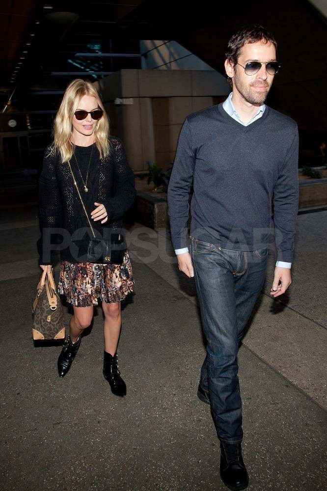 Kate Bosworth with Michael Polish at LAX.