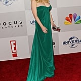 Wendy McLendon-Covey posed on the NBC post-Golden Globes party red carpet.