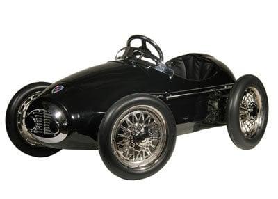 Racing Black Retro Racer Pedal Car ($410)