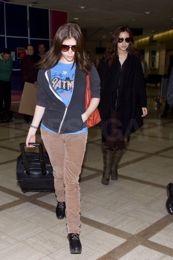 Anna Kendrick and Christian Serratos stuck together last night when they got off a flight from Louisiana. The girls are back in California after a stint in Baton Rouge, where they worked on Breaking Dawn. It was a short trip for Christian, who tweeted on Sunday that she was southward-bound. Both Anna and Christian have been logging long hours working on the final installments of the Twilight series, just like Robert Pattinson, Kristen Stewart, and Taylor Lautner — their costar Elizabeth Reaser, though, recently said the cast has been able to enjoy some good Southern hospitality and food. There's a great deal of excitement to come as the cast wraps up production on the films, and we had a couple recent sneak peeks at Robert and Kristen's sexy bedroom scene as well as the brand-new title art. Kristen will soon wrap up her years playing Bella Swan, but she's already looking forward with a possible new role as Snow White.