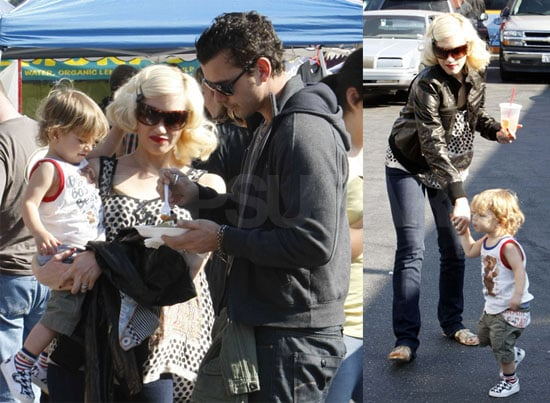 Gwen Stefani, Gavin Rossdale and Son Kingston at the Farmers' Market in Hollywood