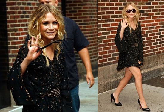 Photos and Video of Mary-Kate Olsen on The Late Show With David Letterman