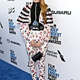 Riley Keough at the 2019 Independent Spirit Awards