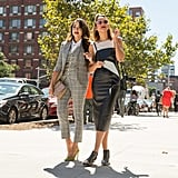 A Tailored Tartan 3-Piece Can Be Extremely Chic. Add a Pop of Color With a Bright Pair of Pumps