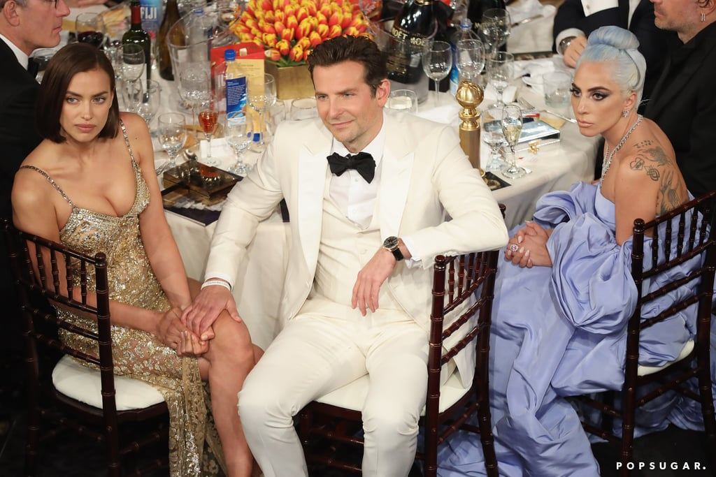 Pictured: Irina Shayk, Bradley Cooper, and Lady Gaga