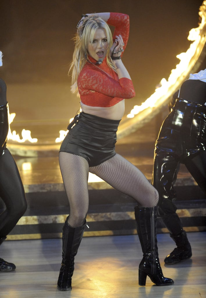 Britney Spears's Good Morning America performance in December 2008 turned heads.