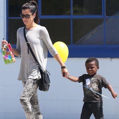 Sandra Bullock Takes Louis to a Birthday Party in LA