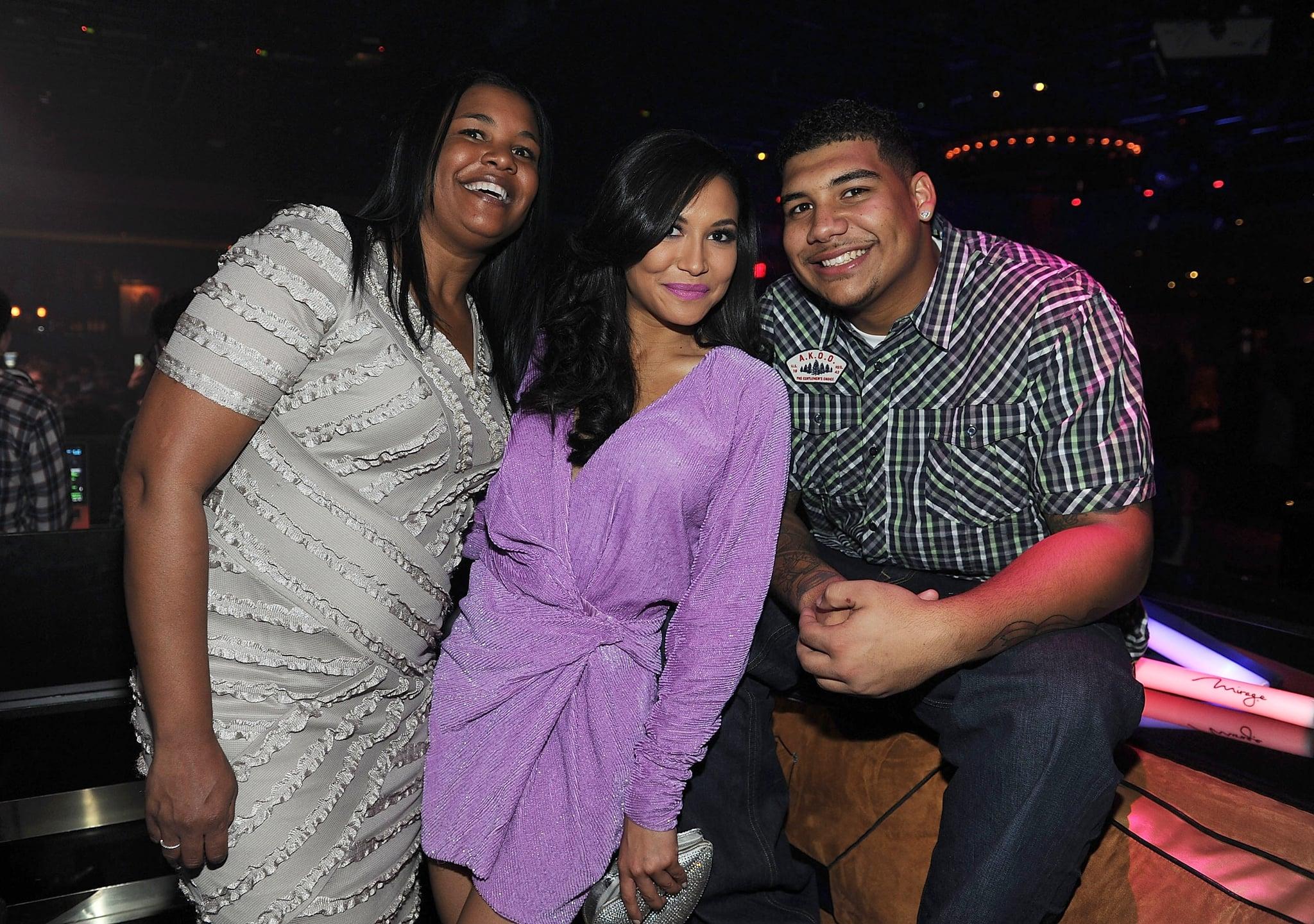 LAS VEGAS, NV - JANUARY 21: (Exclusive Coverage)  Yolanda Rivera, Naya Rivera and Mychal Rivera celebrate Naya Rivera's birthday at 1 OAK Las Vegas at The Mirage on January 21, 2012 in Las Vegas, Nevada.  (Photo by Denise Truscello/WireImage)