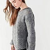 Urban Outfitters Calina Cable Knit Sleeve Sweater