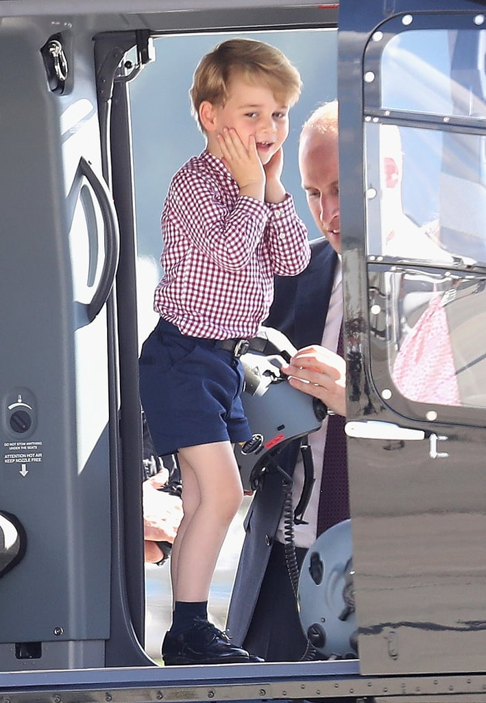 Prince George and Princess Charlotte have only been on the planet a handful of years, but they've already got this royal tour thing down pat. The British royal family wrapped up their official visits to Poland and Germany on Friday, and not only did Charlotte prove that she can rock the hell out of her Uncle Harry's hand-me-down shoes, but she also had two very big milestones: her first diplomatic handshake and her first curtsy. George, on the other hand, showed off his adorable curiosity by peeking out of airplane windows, and we even got a glimpse of his signature unimpressed face when he touched down in Berlin on Wednesday. We don't know about you, but we're having a hard time picking our favorite moment from the family's royal tour.      Related:                                                                                                           The Special Way Will and Kate Honored the Queen During Their Polish Tour