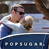 Naomi Watts and Liev Schreiber snuck a kiss while on vacation.