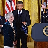 President Barack Obama presents the Presidential Medal of Freedom to former judge Patricia Wald.