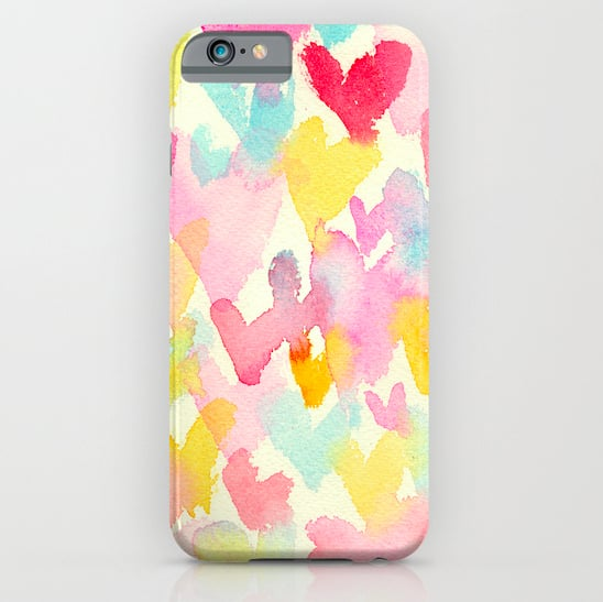 Heart watercolor case ($35) for iPhone models and Samsung Galaxy S