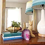 The find: a vibrant agate chunk, which can stand alone or serve as a bookend.