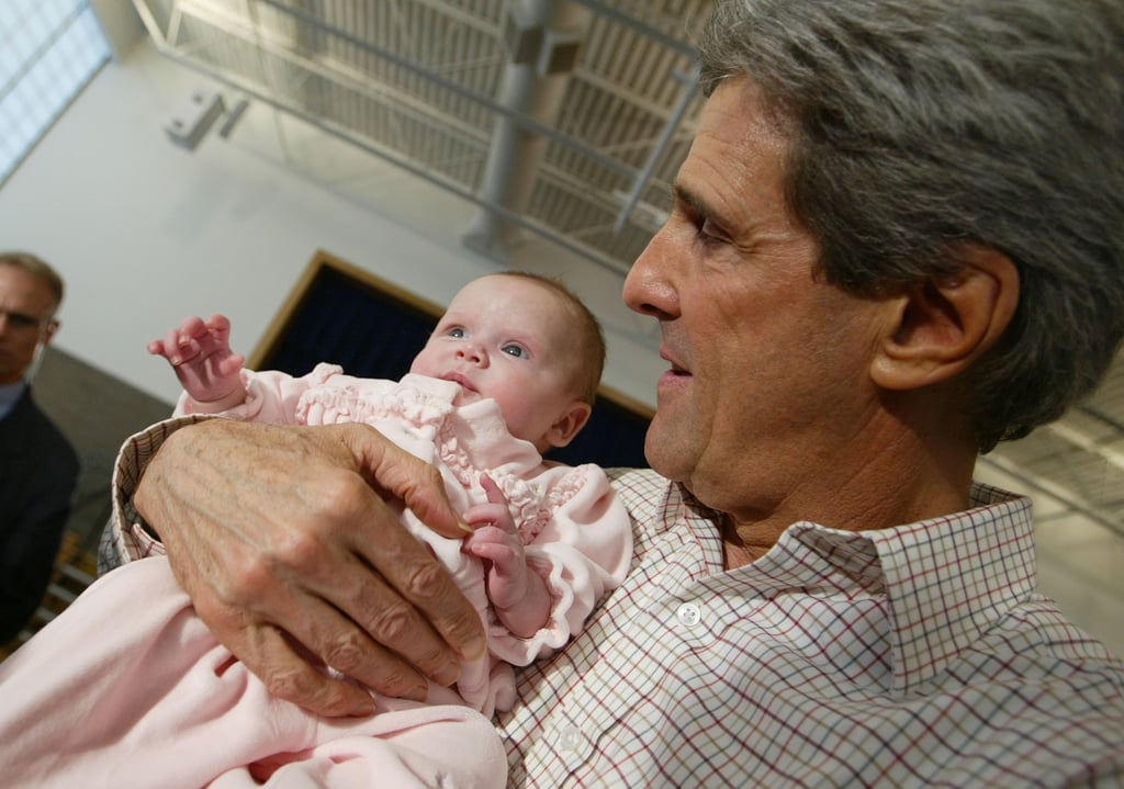 John Kerry found a young supporter on Primary Day 2004, though she couldn't vote in the primary.