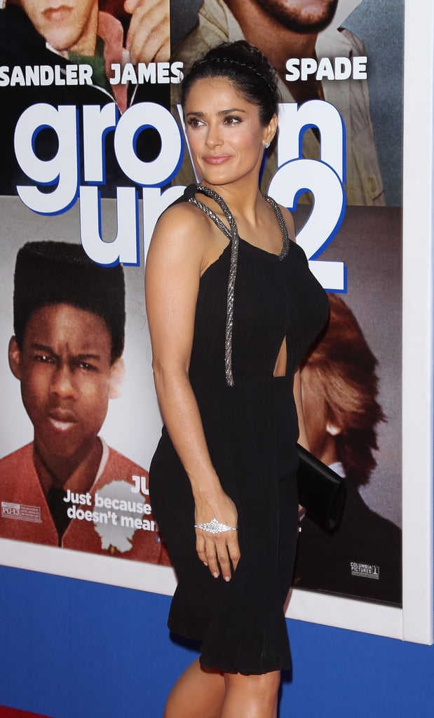 Salma Hayek looked great from every angle.
