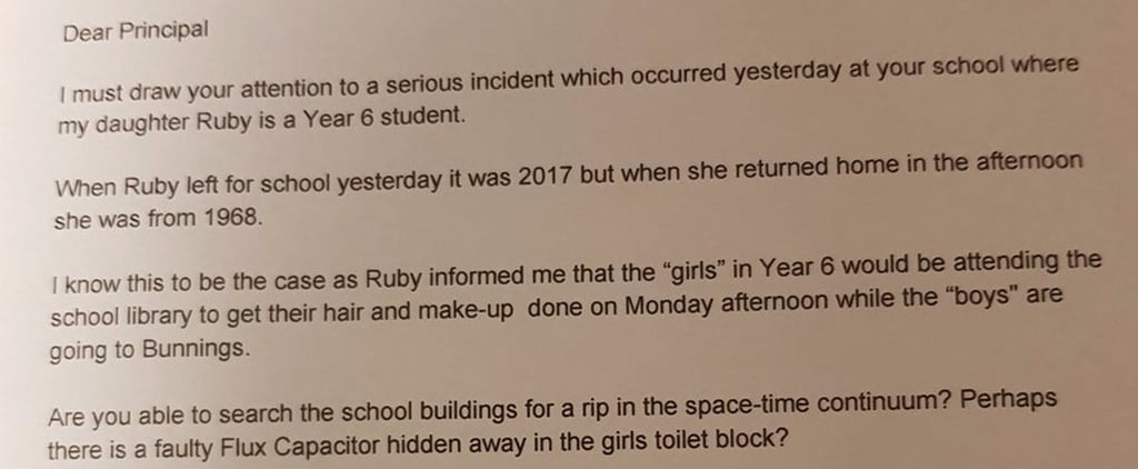 """Infuriated by His Daughter's Sexist School Activities, This Dad Wrote a Letter About """"Gender Lines"""""""