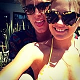Jesinta Campbell and her man soaked up the sun. Source: Instagram user jesintac