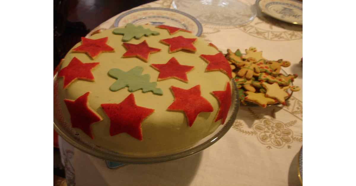 Fruit Cake With Marzipan Layer In The Middle