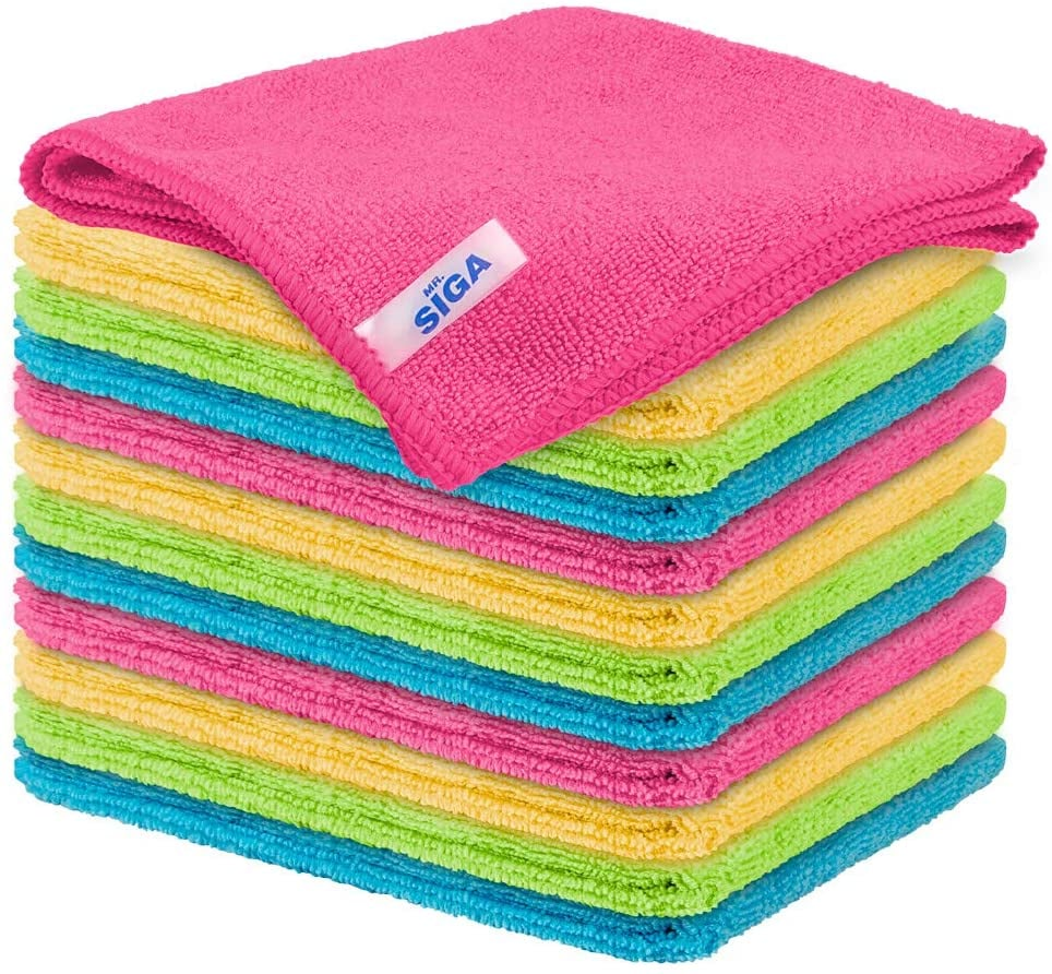 MR.SIGA Microfiber Cleaning Cloth Pack