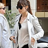Jessica Biel wore her engagement ring for a shopping trip in Paris.