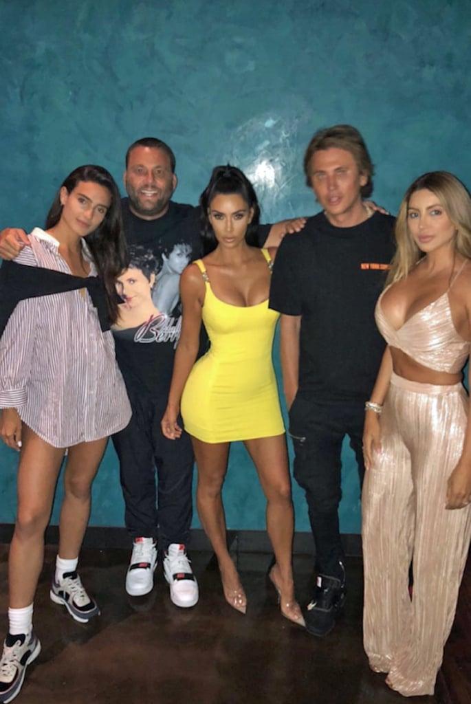 Kim Kardashian Yellow Vintage Versace Dress 2018