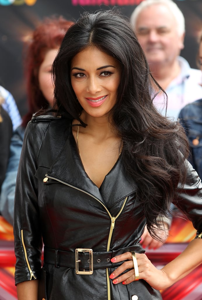 To go with her rocker-chick biker jacket, Nicole had a voluminous blow-dry for The X Factor London auditions.