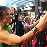 Taking a snap on her phone at the 2011 Logies.
