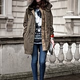 With a high vamp boot and cropped jeans to show off your ankles.