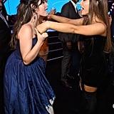 Ariana Grande and Camila Cabello at the 2018 MTV VMAs