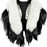 Forzieri Fearfur Bad Black Kite White and Black Fur Stole ($2,250)