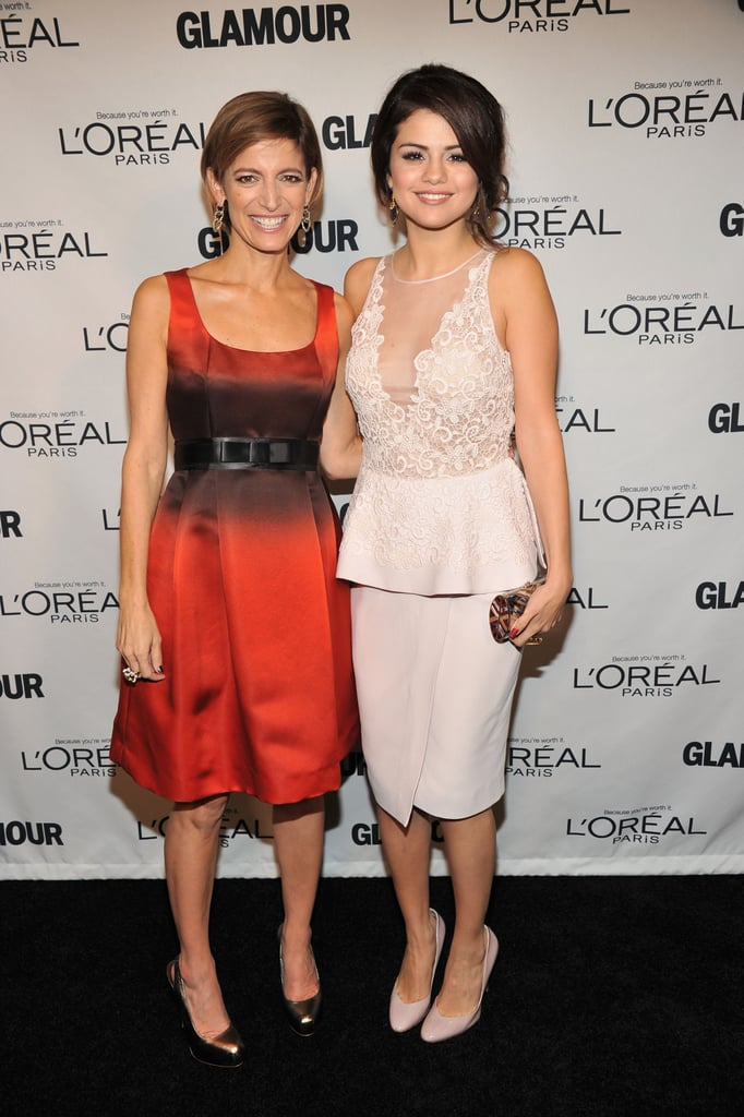 Cindi Leive and Selena Gomez posed for photos at the Glamour Women of the Year Awards.