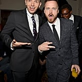 Aaron Paul and Paul Scheer joked around at GQ's afterparty.