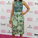 Kerry was a vision in Giambattista Valli florals — footwear included! — at the 2013 Film Independent Spirit Awards in Santa Monica, CA.
