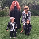 Kim Kardashian as Anna Wintour and North West as André Leon Talley