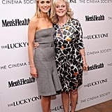 Costars Blythe Danner and Taylor Schilling got together at the Cinema Society and Men's Health screening of The Lucky One in NYC.