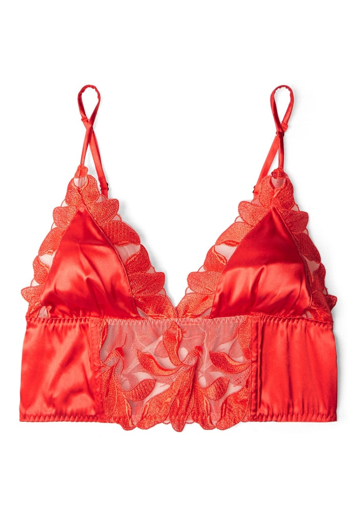 Fleur du Mal Lily Embroidered Triangle Bra