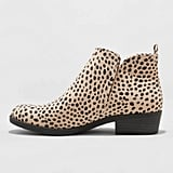Universal Thread Women's Dylan Microsuede Laser Cut Booties