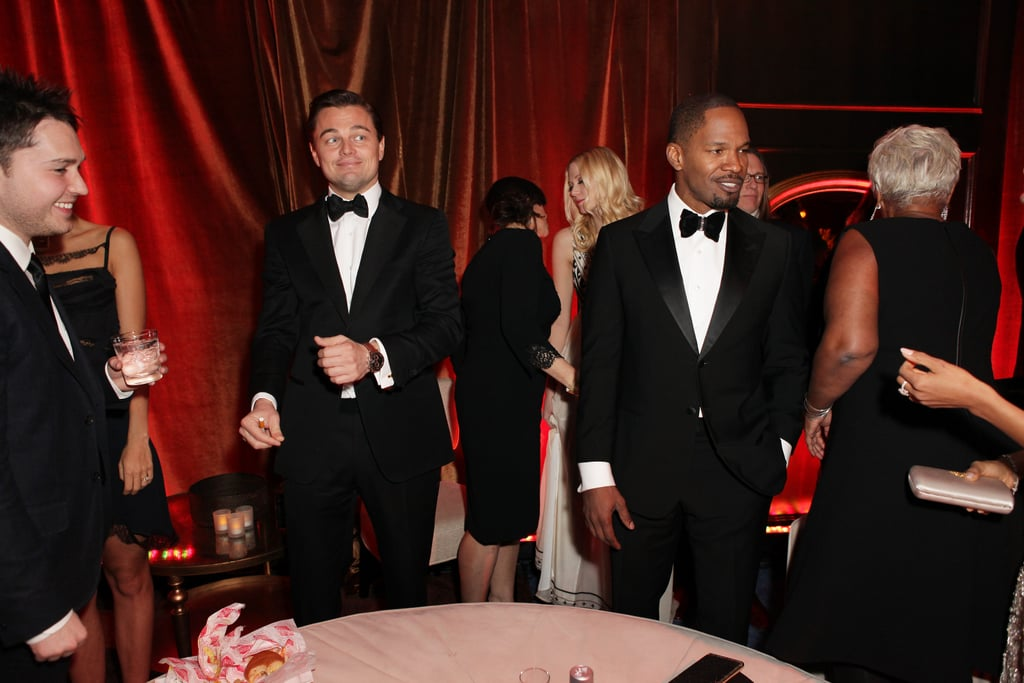 Leonardo DiCaprio and Jamie Foxx mingled with other guests at the Weinstein afterparty.