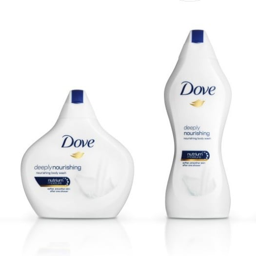 Dove Body Washes Shaped Like Women's Bodies Ad