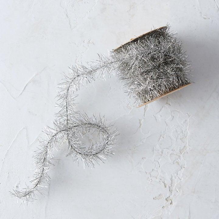 Silver Tinsel Ribbon